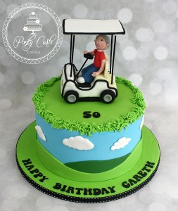 Golf Buggy Birthday Cake.