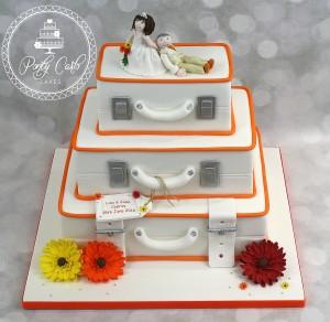 3 Tier Suitcase Wedding Cake.