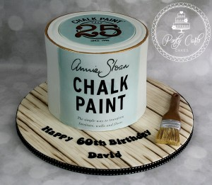 Annie Sloan Tin Paint  And Paintbrush Birthday Cake.