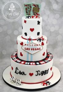 Las Vegas Themed Wedding Cake.