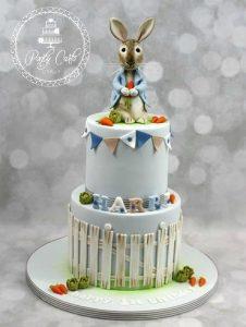 2 Tier Peter Rabbit Birthday Cake.