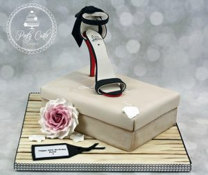 Louboutin Shoe & Shoe Box Birthday Cake.