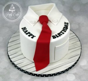 Mens Shirt & Tie Birthday Cake.