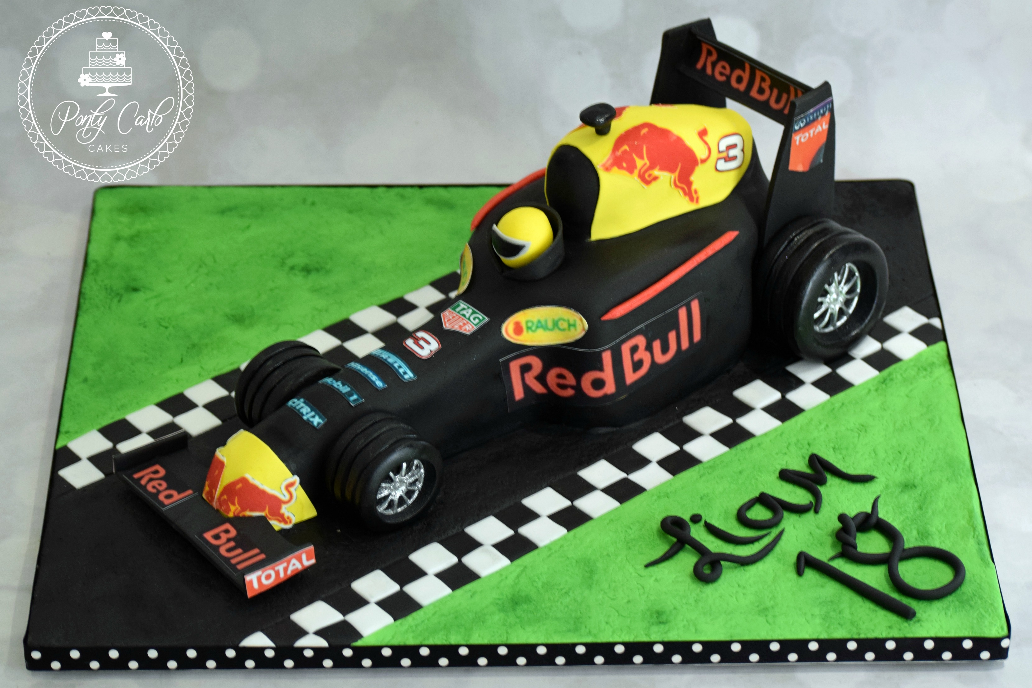 Red Bull Birthday Cake