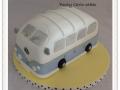 blue campervan cake