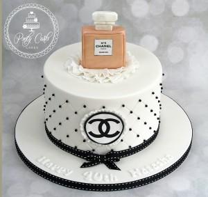 Chanel No 5 Birthday Cake.