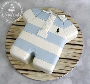 Ralph Lauren Romper Baby Shower Cake.