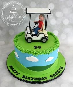 Golf Buggy Birthday Cake.