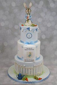 Peter Rabbit Birthday/Christening Cake.