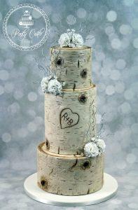 3 Tier Tree Wedding Cake.