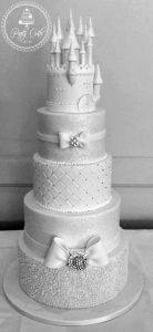 5 Tier Crystal Sparkly Princess Castle Wedding Cake.